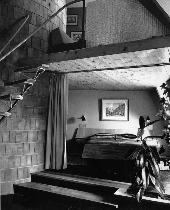 Dormitorio del ático de La Pedrera, Barcelona - Barba Corsini